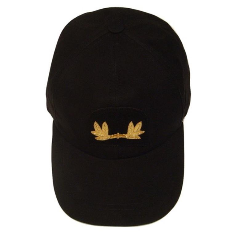 officer-uniform-baseball-cap-gold-oak-leaves-black